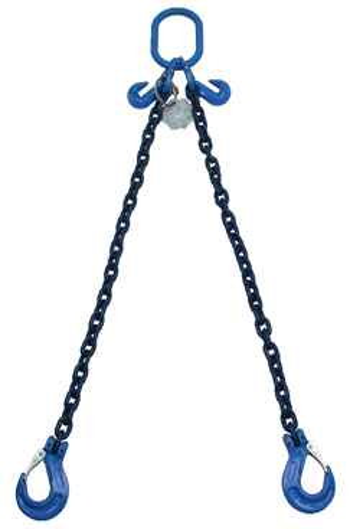9.4 tonne Grade 100 2Leg Chainsling c/w Latch Hooks