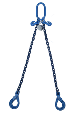 2 tonne Grade 100 2 Leg Chainsling c/w Safety Hooks