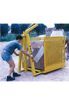 Safety Cage for Crane Forks by Boscaro