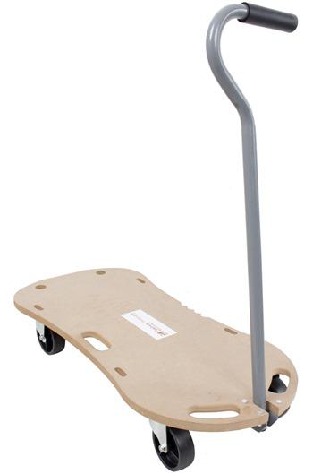 300kg Plywood Wooden Dolly Trolley c/w Handle