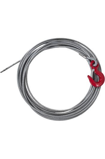 6mm x 20mtr Winch Rope c/w Latch Hook