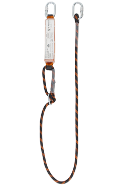 140kg 2mtr Adjustable Shock Absorbing Lanyard c/w Karabiners