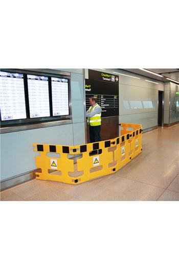 Addgards Handigard 2-panel Yellow/Black Safety Barrier