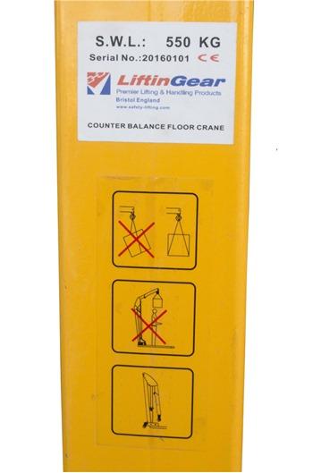 550kg Counterbalance Floor Crane
