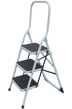 3-Tread Steel Safety Step Ladder