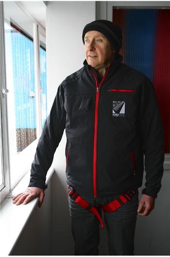 Clearance Black Jacket Safety Harness, Wind Breaker/Water Proof
