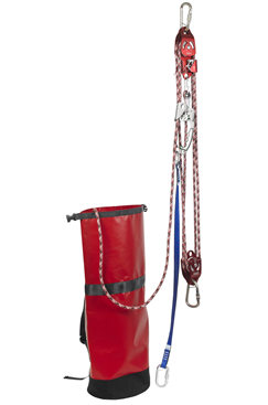 IKAR IKGBPCL10 10mtr Pre-rigged Rescue Pulley System with 1way Locking Cam