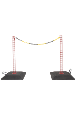 Steel Demarcation Safety Post with base