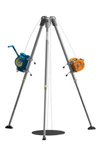 Globestock 14mtr Compact Tripod,Winch & G.Saver II Kit c/w Rescue Harness