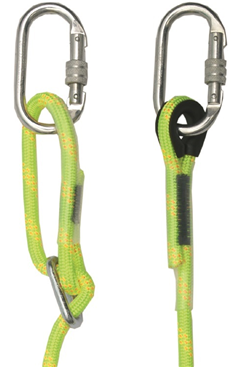 Adjustable Rope Lanyard with Karabiners