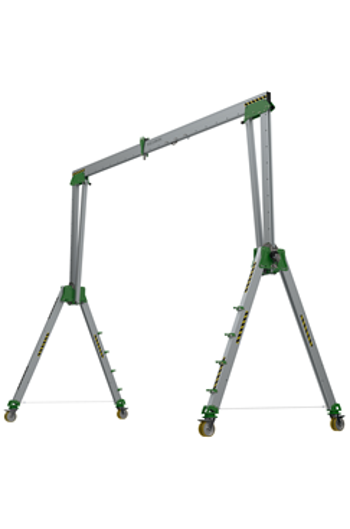 5000kg Aluminium Gantry, 5mtr beam, 2900-4700mm