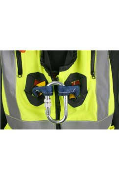 Quick Release High Visibility Jacket Safety Harness Elasticated