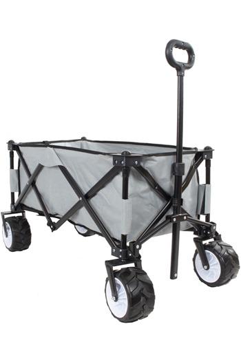 Folding Festival/Camping Trolley Cart c/w BIG BOY WHEELS