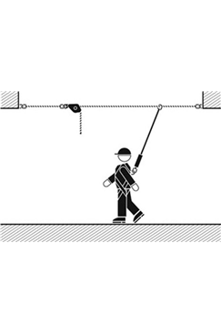 Horizontal Safety Line - Adjustable up to 20mtr