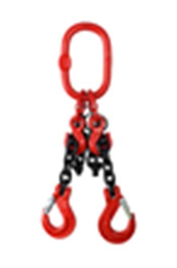 Weissenfel 7.5tonne 2-Leg Chainsling c/w Latch Hooks