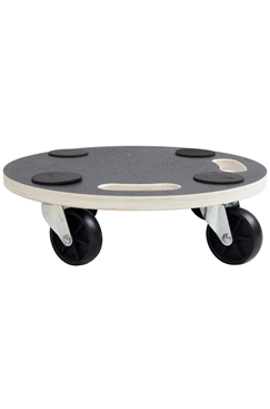 200kg Plywood Round Wooden Dolly Trolley 380mm