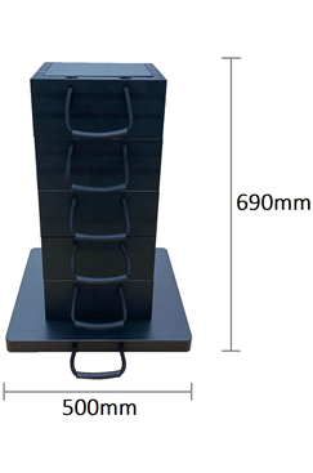 Eco-Stak 130 Kit 5 Stackable Jacking Blocks