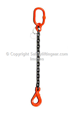 Special Offer 8 tonne 1Leg Chainsling x 8mtr c/w Safety Hook