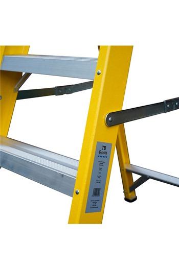 Heavy-Duty Fibreglass Swingback Step Ladders
