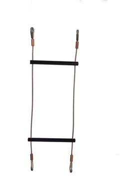 Lyon Black Rung Stainless Steel Wire Rope Ladder Swaged Eye