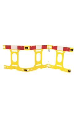 Addgards 1mtr High 3-Panel Yellow Safety Barrier