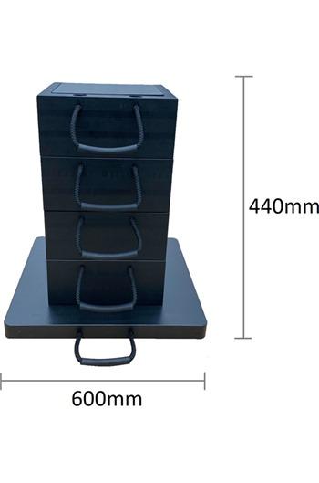 Eco-Stak Plus 100 Kit 4 Stackable Jacking Blocks