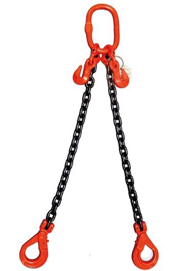 2.8 tonne 2 Leg Chainsling, Adjustable & c/w Safety Hooks