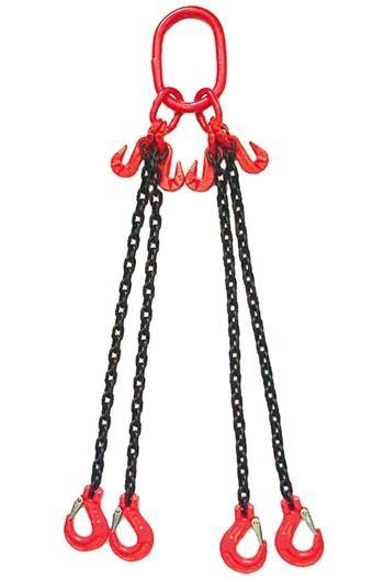 Weissenfel 6.7tonne 4-Leg Chainsling c/w Latch Hooks