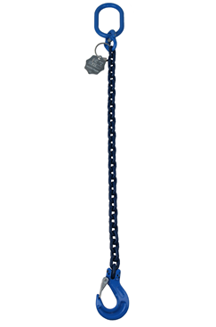 4tonne Grade 100 Chain sling 1 leg, Latch Hook