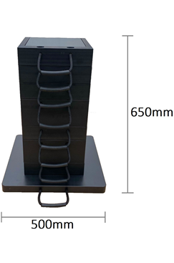 Eco-Stak Mix Kit 4 Stackable Jacking Blocks