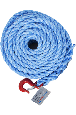 18mm Gin Wheel Rope with Hook 20mtr, 30mtr & 50mtr