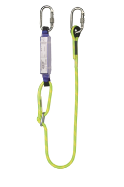 Clearance 2mtr Adjustable Shock Absorbing Lanyard with Karabiners