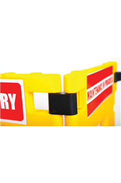 Addgards 2-panel Yellow Elevator Gard Safety Barrier