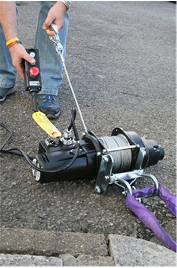 Electric Winch, 240 volt , Lifting capacity 500kg c/w