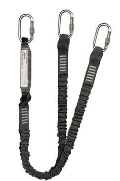 Clearance Elasticated Y Shock Absorbing Lanyard 1.75m with Karabiners