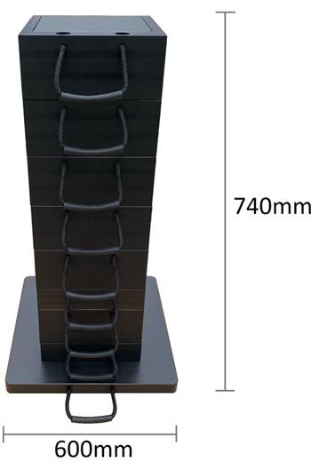 Eco-Stak Plus Mix Kit 5 Stackable Jacking Blocks