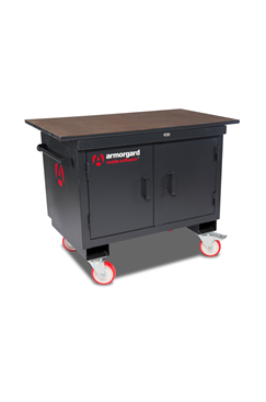 "Armorgard BH1270-VF Mobile Tuffbench with Wooden Top, 4"" Chain Vice and 6"" Engineers Vice"