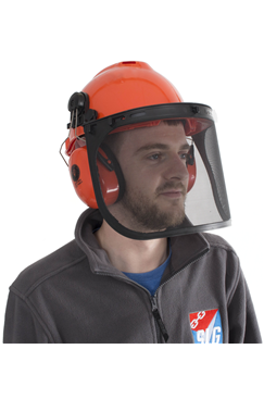 LifeGear Forestry Safety Helmet with Ear Defenders and Visor