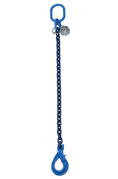 1.4tonne 6mm Grade 100 Chainsling 1 Leg, Safety Hook