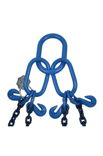 Ex-demo 8tonne Grade 100 4Leg Chainsling x 3mtr c/w Latch Hooks