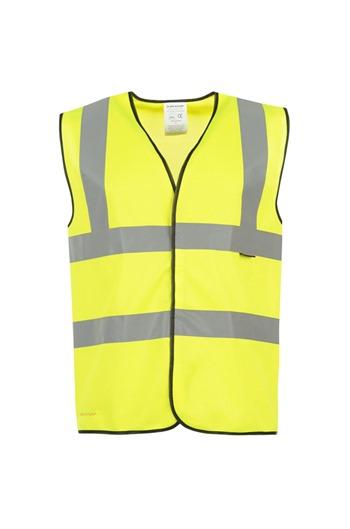 Yellow Hi Viz Waist Coat - Sizes M, L & XL - High Visibility