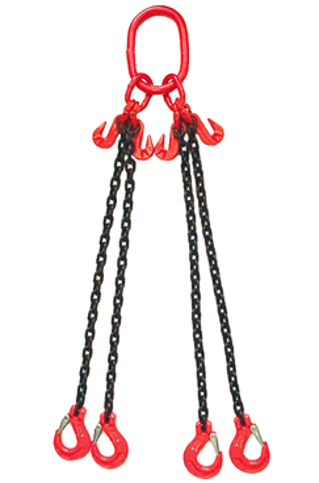 Weissenfel 4.25tonne 4-Leg Chainsling c/w Latch Hooks