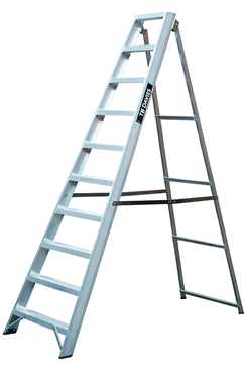 Heavy-Duty EN131 Swingback Step Ladders