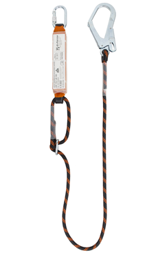 140kg 2mtr Adjustable Shock Absorbing Lanyard c/w Scaffold Hook
