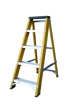 Lyte GFBB Heavy Duty Glassfibre Swingback Stepladder
