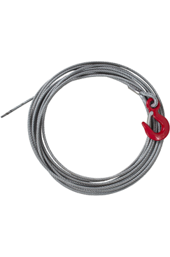 5mm x 10mtr Winch Rope c/w Latch Hook