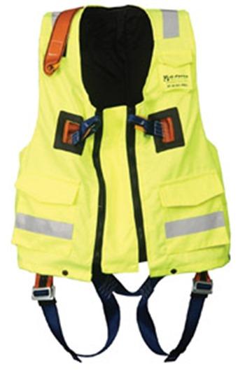 Clearance Yellow XXL Hi-Viz Jacket c/w Elasticated 2-point Harness