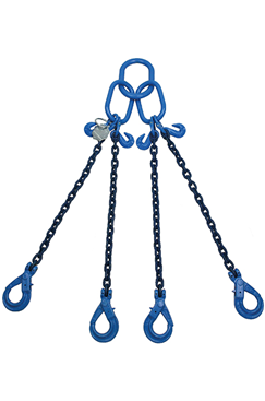 14.1 tonne Grade 100 4Leg Chainsling c/w Safety Hooks