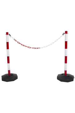 Plastic Chain Post Set (x2) with 3mtrs of Chain