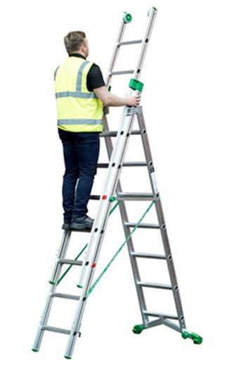 Heavy Duty 8+9+9 Combination Ladder